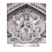 Sculpture Above North Entrance Of Westminster Abbey London Shower Curtain