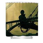 Sculpture - Hoover Dam Construction Worker Shower Curtain