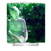 Sculpture In A Park Shower Curtain by Susanne Van Hulst