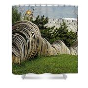 Sculpture In Beijing Shower Curtain