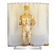 Sculpture In Olympia, Greece. Shower Curtain