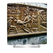 Sculpture Torture At Hoa Lo Prison Hanoi Shower Curtain