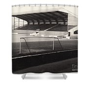 Scunthorpe United - Old Showground - East Stand 1 - Bw - 1960s Shower Curtain