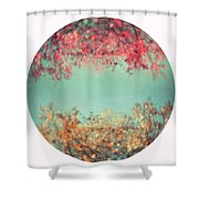 Gold And Pink Shower Curtain