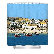 Sea And Sky Shower Curtain by Julian Perry