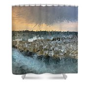 Sea And Stones Shower Curtain