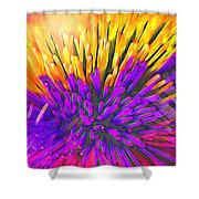Sea Anemone Abstract - Kooosh Ball Shower Curtain