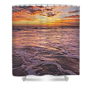 Sea At Sunset In Algarve Shower Curtain