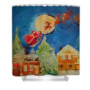 Sea Blue Christmas  Shower Curtain