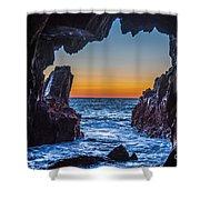 Sea Cave Sunset Shower Curtain