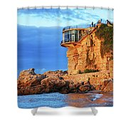 Sea Coast Sunrise At Balcon De Europa In Nerja Shower Curtain