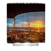 Sea Cruise Sunrise Shower Curtain