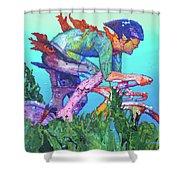 Sea Cycler Shower Curtain
