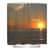 Sea Doo In To The Sunset Shower Curtain