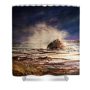 Sea Drama Shower Curtain