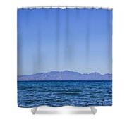 Sea, Earth, Sky Shower Curtain