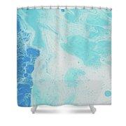 Sea Foam Shower Curtain by Nikki Marie Smith