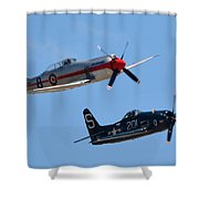 Sea Fury And Bearcat Shower Curtain