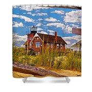 Sea Girt Lighthouse Shower Curtain