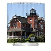 Sea Girt Lighthouse - N J Shower Curtain
