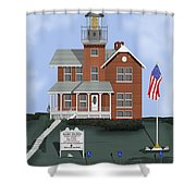 Sea Girt New Jersey Shower Curtain