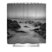 Sea Girt Nj Sunrise Bw Shower Curtain
