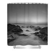 Sea Girt Nj Sunrise Version 2 Bw Shower Curtain