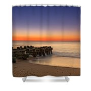 Sea Girt Pilings  Shower Curtain