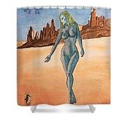Sea Goddess In Utah Shower Curtain