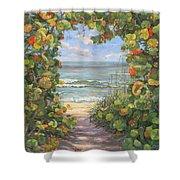 Sea Grape Heart Shower Curtain
