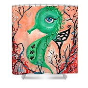 sea horse -In Love Shower Curtain