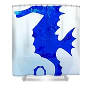 Sea Horse Love 44 Shower Curtain