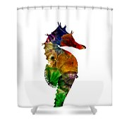 Sea Horse Shower Curtain by Michael Colgate
