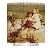 Sea Horses Shower Curtain by Frederick Morgan