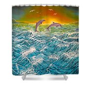 Sea In Action Shower Curtain