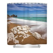 Sea In Motion Shower Curtain