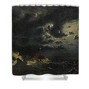 Sea In The Moonlight Shower Curtain