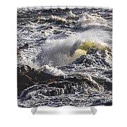 Sea In Turmoil Shower Curtain
