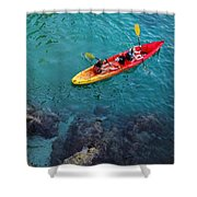 Sea Kayaking Shower Curtain