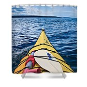 Sea Kayaking Shower Curtain