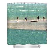 Sea Life Salt Life Key West Style  Shower Curtain