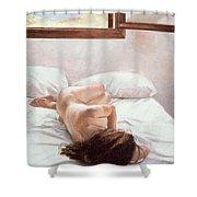 Sea Light On Your Body Shower Curtain by John Worthington