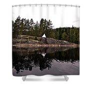 Sea Mark On An Islet At Lake Saimaa Shower Curtain