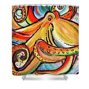 Sea Me Swirl Shower Curtain