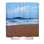 Sea Meets Beach Shower Curtain
