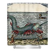 Sea Monster, 16th Century Shower Curtain