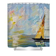 Sea Morning New Original Shower Curtain