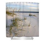 Sea Oats And Blue Sky Shower Curtain