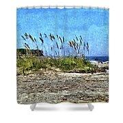 Sea Oats And Coastline Shower Curtain