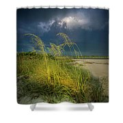 Sea Oats In The Storm Shower Curtain